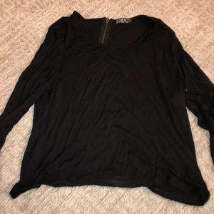 Black cotton on long sleeve